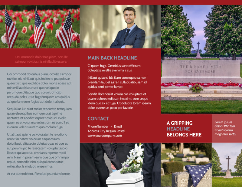 Memorial Services Brochure Template Preview 2