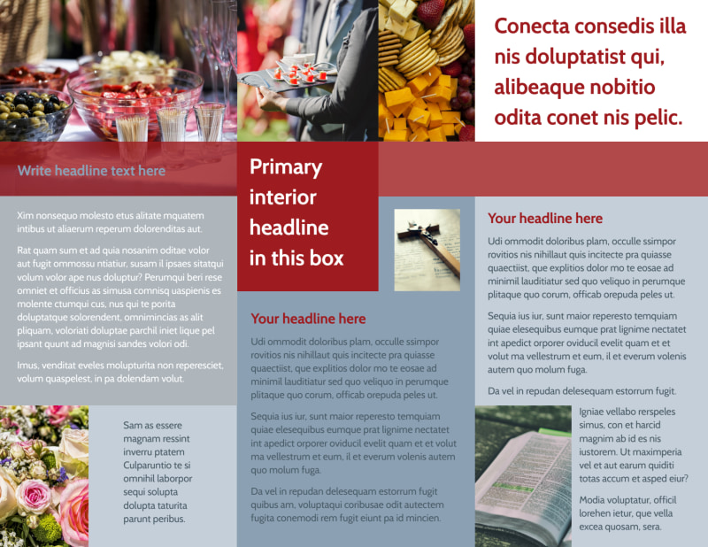 Memorial Services Brochure Template Preview 3