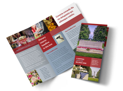 Memorial Services Tri-Fold Brochure Template preview
