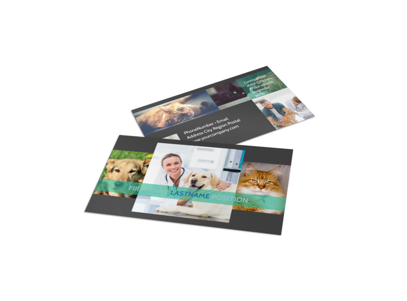 Veterinarian Business Card Template Preview 1