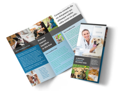Veterinarian Tri-Fold Brochure Template