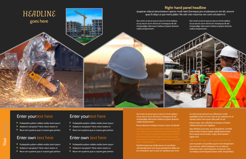 Industrial Construction Brochure Template Preview 3