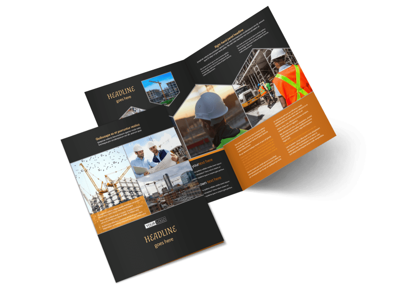 Industrial Construction Brochure Template Preview 1