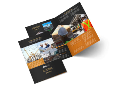Industrial & Commercial Construction Brochure Template 2