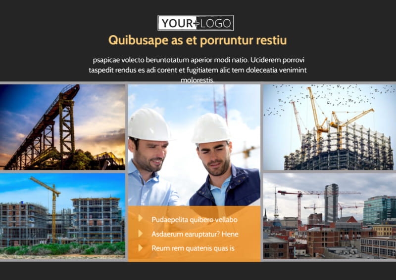 Industrial Construction Postcard Template Preview 2
