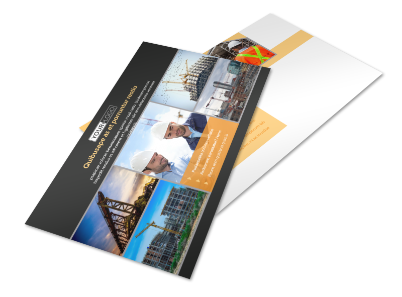 Industrial Construction Postcard Template Preview 1