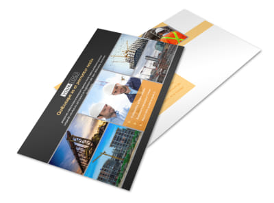 Industrial & Commercial Construction Postcard Template 2