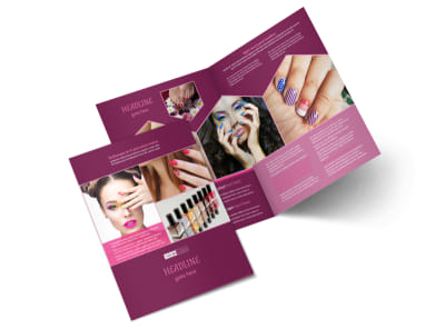 Nail Salon Bi-Fold Brochure Template 2