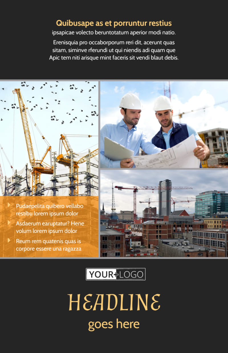 Industrial Construction Flyer Template Preview 2