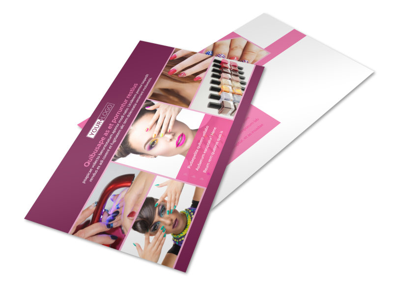 Nail Salon Postcard Template 2