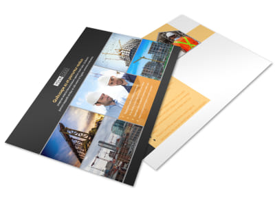 Industrial & Commercial Construction Postcard Template preview