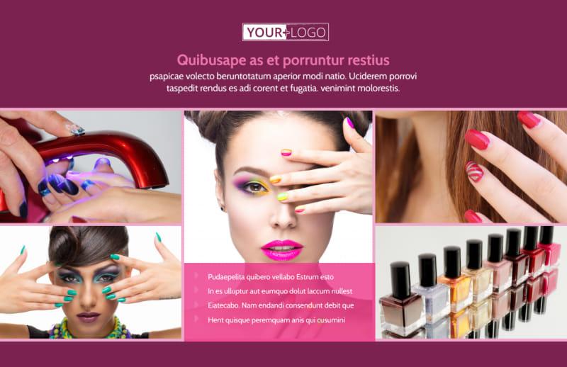 Nail Salon Postcard Template Preview 2