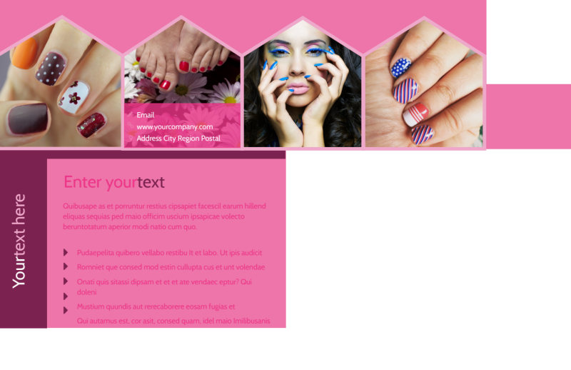 Nail Salon Postcard Template Preview 3