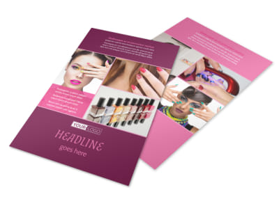 Nail Salon Flyer Template 3