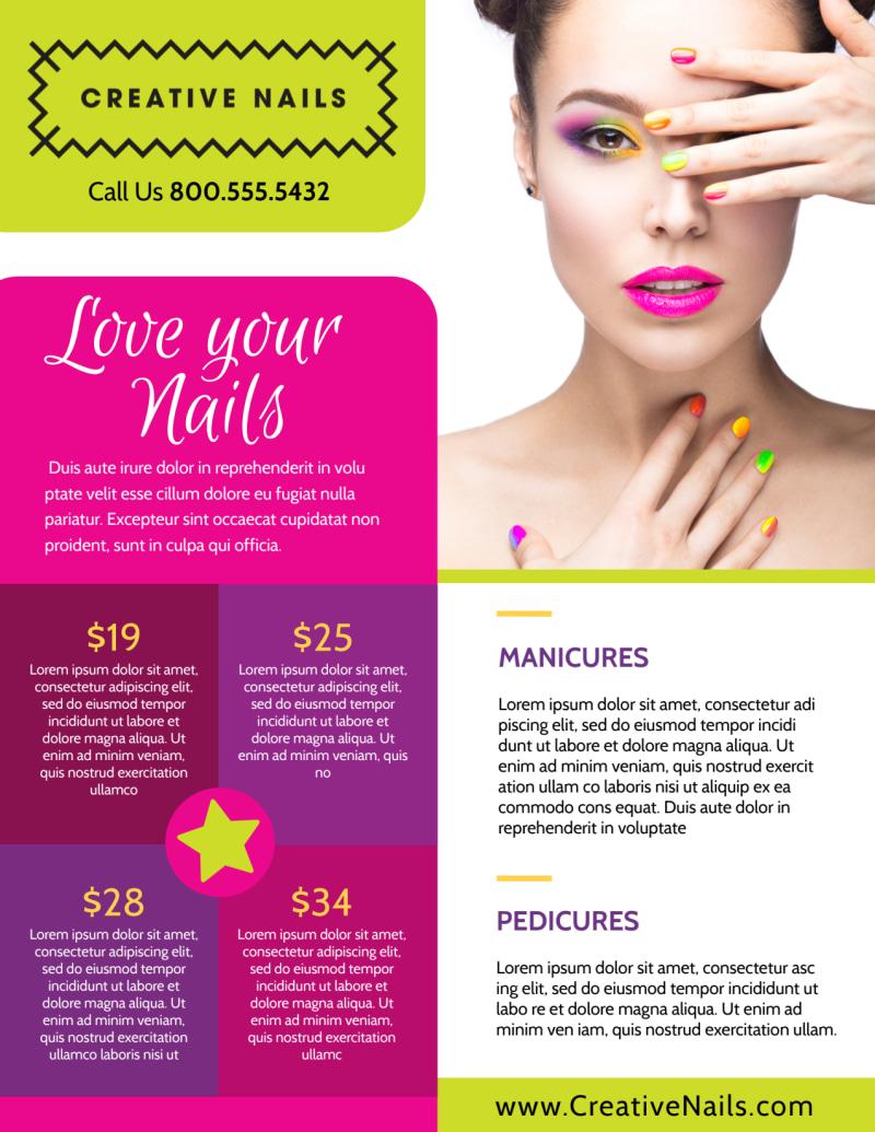 Nail Salon Flyer Template Preview 2