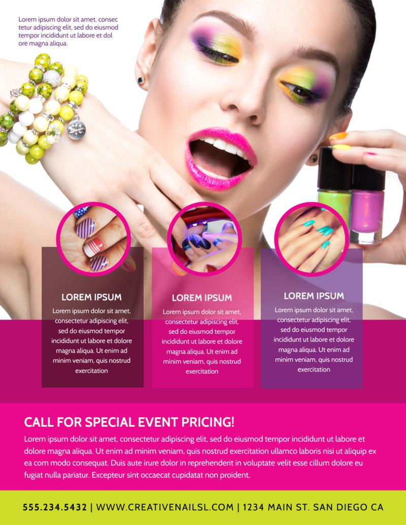 Nail Salon Flyer Template Preview 3