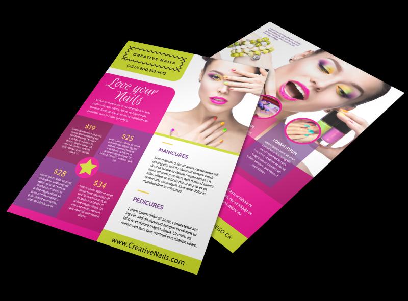 Nail Salon Flyer Template Preview 1