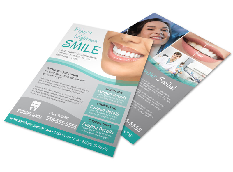 Dental flyer template mycreativeshop for Aspx login page template