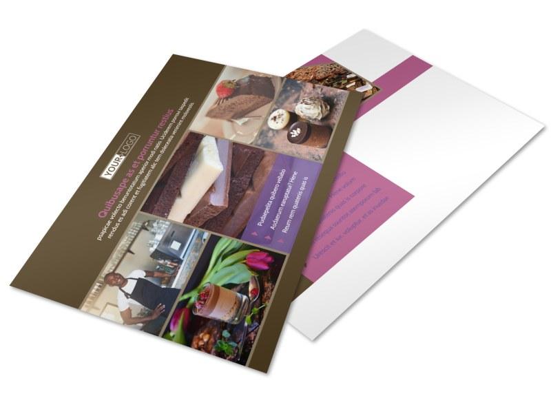 Chocolate Shop Postcard Template 2