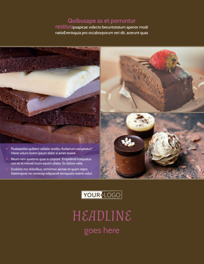 Chocolate Shop Flyer Template Preview 2