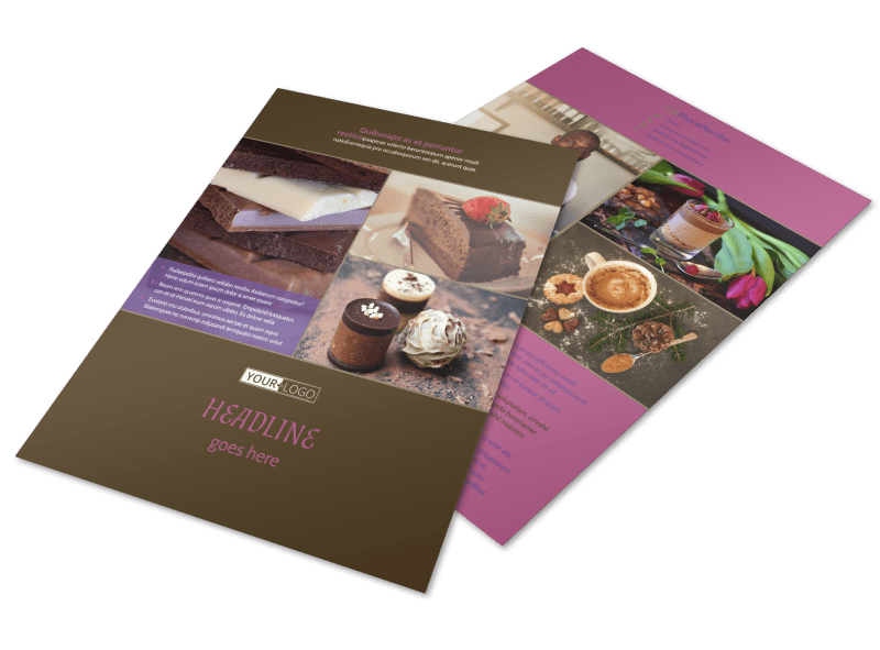 Chocolate Shop Flyer Template Preview 1