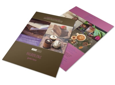 Chocolate Shop Flyer Template