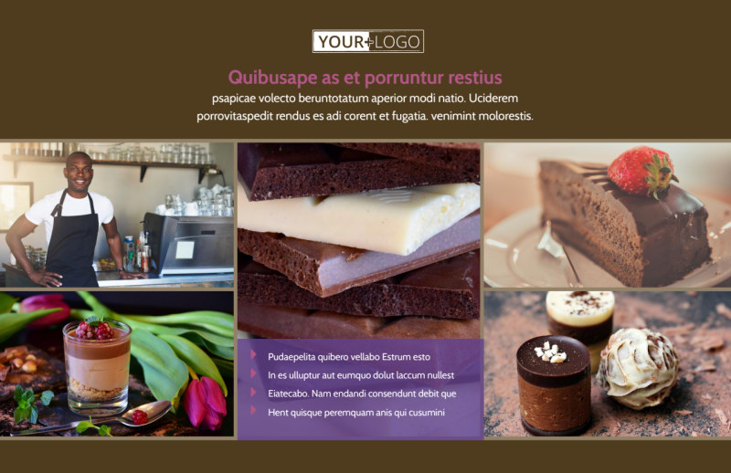 Chocolate Shop Postcard Template Preview 2