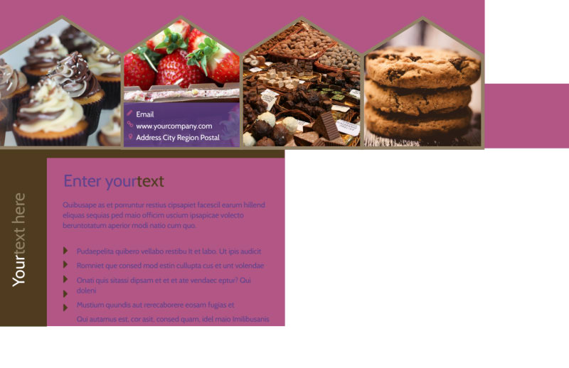 Chocolate Shop Postcard Template Preview 3