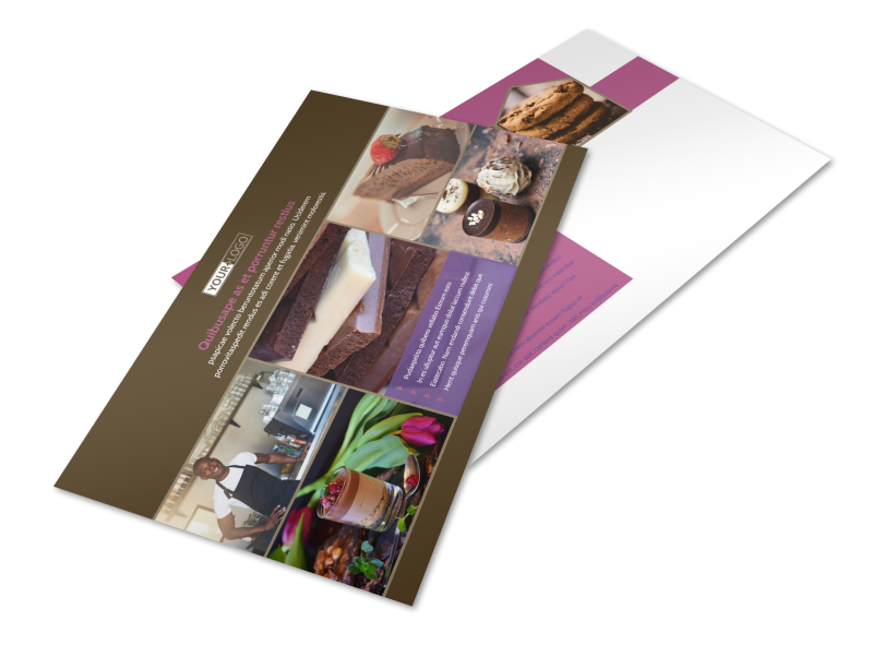 Chocolate Shop Postcard Template Preview 1