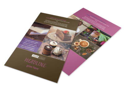 Chocolate Shop Flyer Template 3