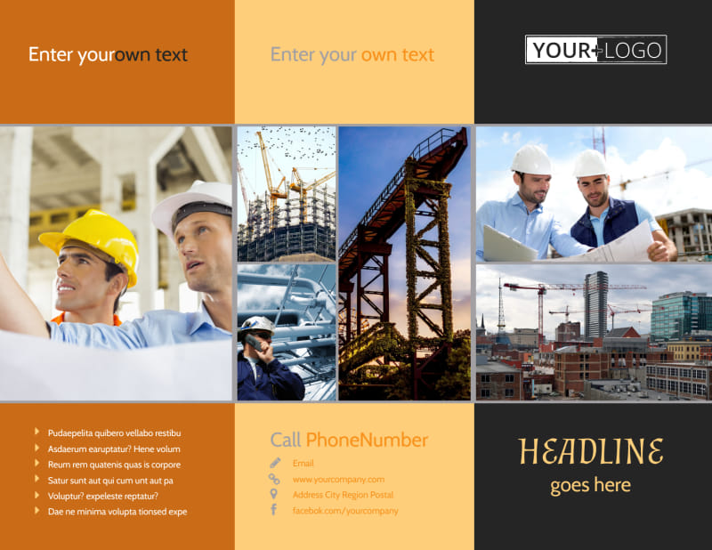 Industrial Construction Brochure Template Preview 2