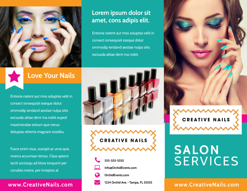 Nail Salon Brochure Template Preview 2