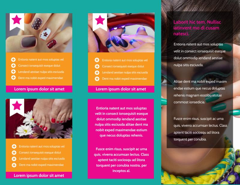 Nail Salon Brochure Template Preview 3