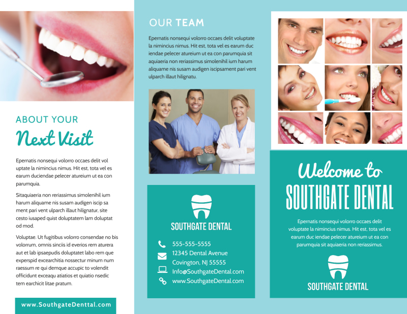 Dental Brochure Template Preview 2