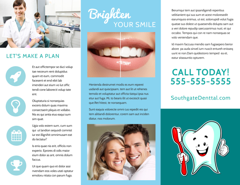 Dental Brochure Template Preview 3