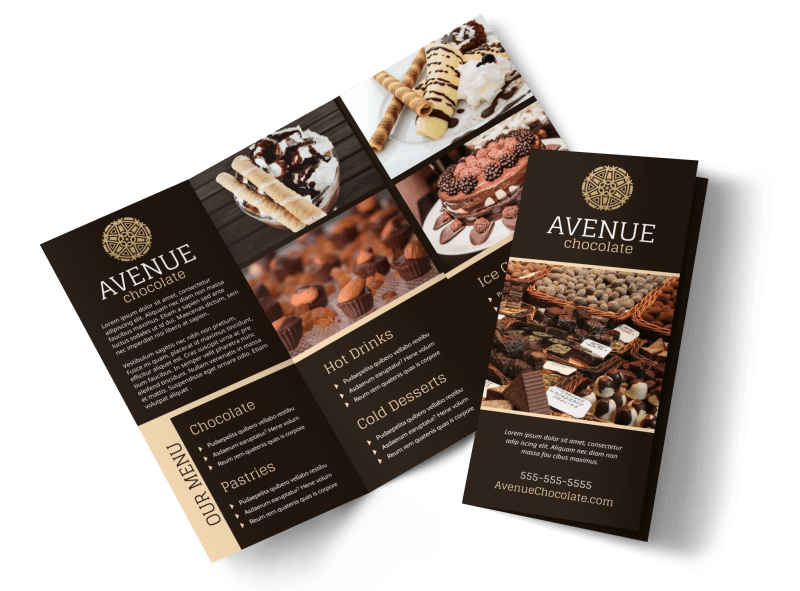 Chocolate Shop Brochure Template Preview 1