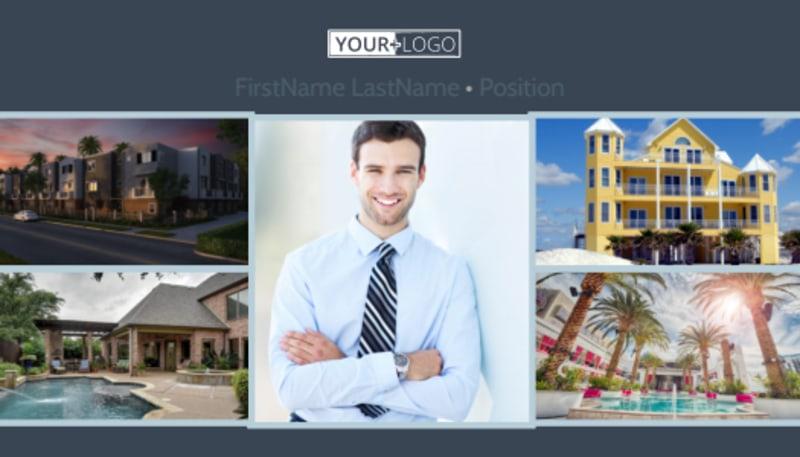 Condominium Complex Business Card Template Preview 2