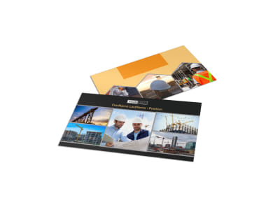 Industrial & Commercial Construction Business Card Template preview