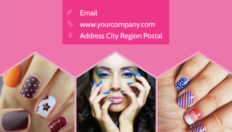 Nail Salon Business Card Template Preview 3
