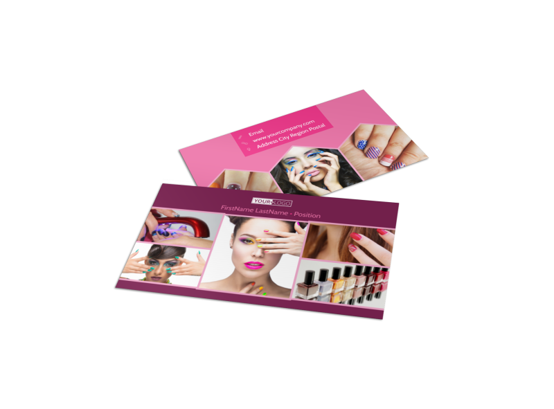 Nail Salon Business Card Template Preview 1