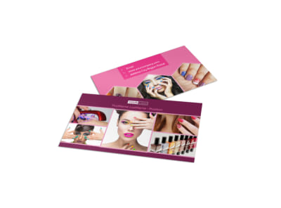 Nail Salon Business Card Template preview