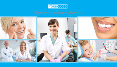 Dental Business Card Template Preview 1