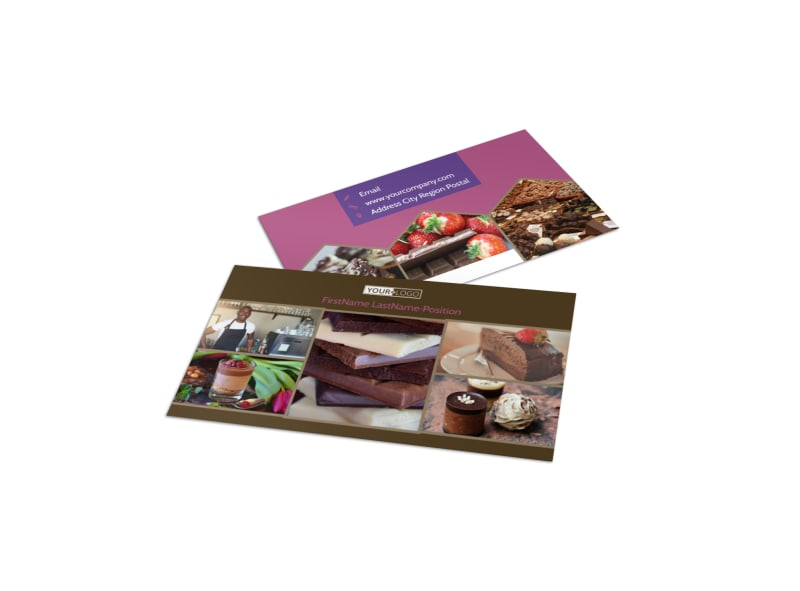 Chocolate shop business card template mycreativeshop chocolate shop business card template colourmoves