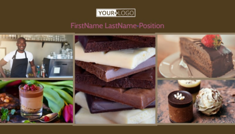 Chocolate Shop Business Card Template Preview 2