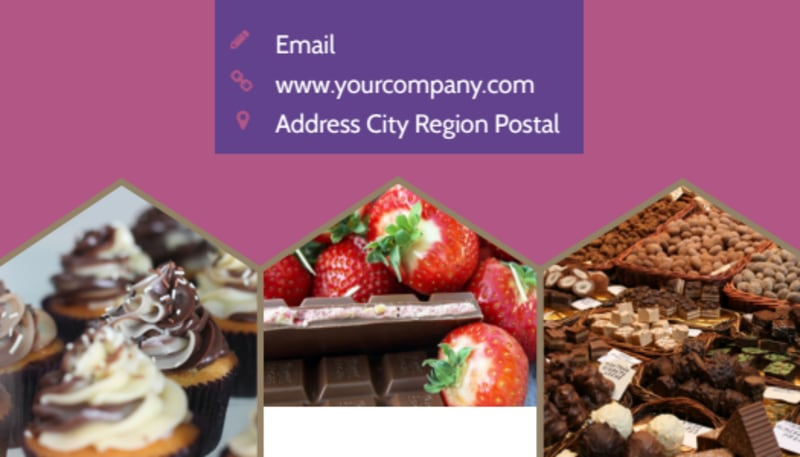 Chocolate Shop Business Card Template Preview 3