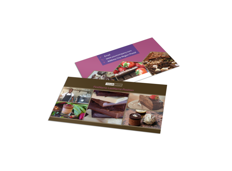 Chocolate Shop Business Card Template Preview 1