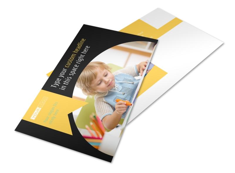 Child Care & Preschool Postcard Template 2