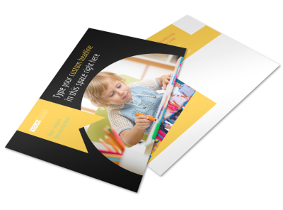 Child Care & Preschool Postcard Template