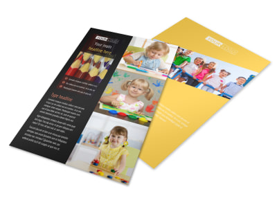 Child Care & Preschool Flyer Template 3