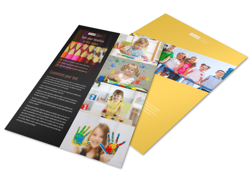 Preschool Services Brochure Template  Mycreativeshop